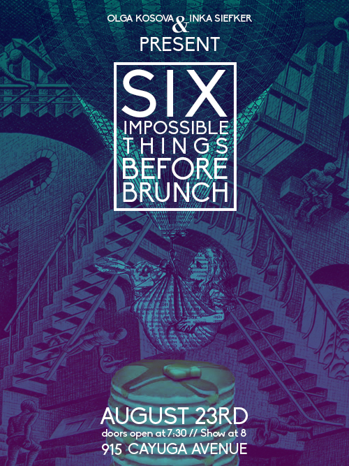 six impossible things before brunch poster by Ashes Monroe