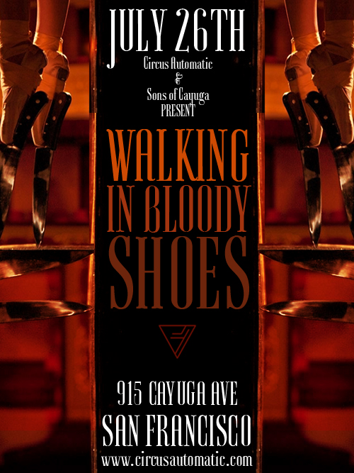 Walking in Bloody Shoes poster by Ashes Monroe